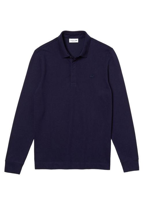 Paris Polo Long Sleeve Regular Fit Navy Blue