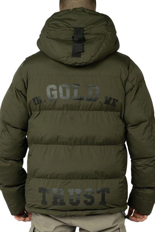 In Gold We Trust The Storm Short Back Logo Black Jacket