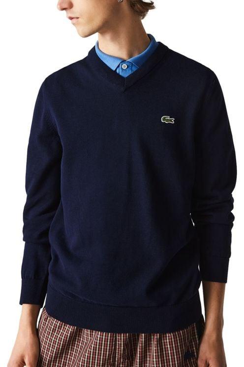 V- Neck Knitwear Classic Fit Navy Blue